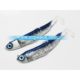 DOBLE COMBO  BLACK MINNOW 120 BARRACUDA